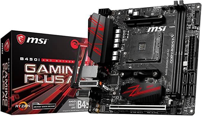 MSI B450I Gaming Plus AC Best mini ITX motherboard for Ryzen 5 2600